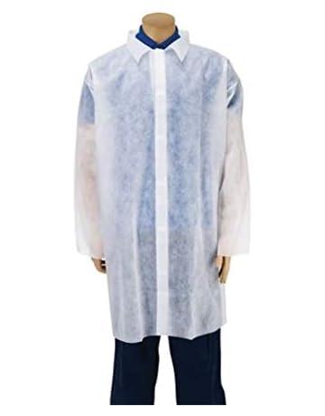 Premier - abrigos desechables para visitantes, color blanco, extra grande, paquete de 10