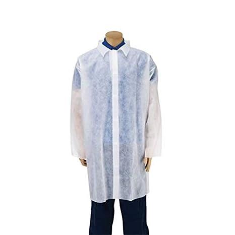 Premier - abrigos desechables para visitantes, color blanco, extra grande, paquete de 10: Amazon.es: Salud y cuidado personal