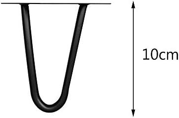 45cm hoch Melko/® 4 St/ück Hairpin Legs silber schlanke Tischbeine aus Stahl Vintage und Industrial Look mit Gummi Bodenschoner