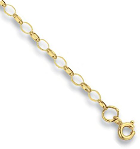 9ct Yellow Gold Bevelled Curb Chain Necklace - 3mm Thick - Various Lengths - 16, 18, 20, 22 and 24 Inch Long