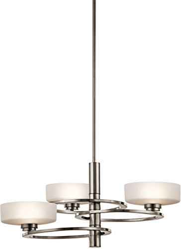 3 Pewter Light Classic (Kichler 43364CLP Aleeka Chandelier 3-Light Halogen, Classic Pewter)
