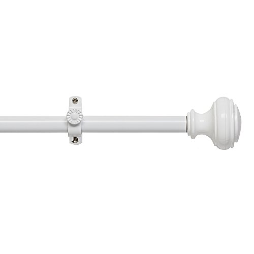 Achim Home Furnishings Buono II Decorative Rod and Finial Bradford, 66'' up to 120'', White by Achim Home Furnishings (Image #2)