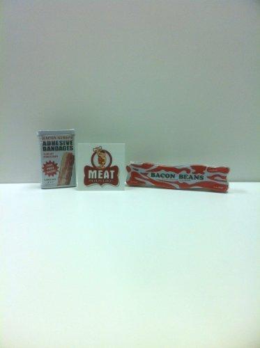 MEAT MANIAC Novelty Bacon Combo Gift Pack with Sticker- Baco