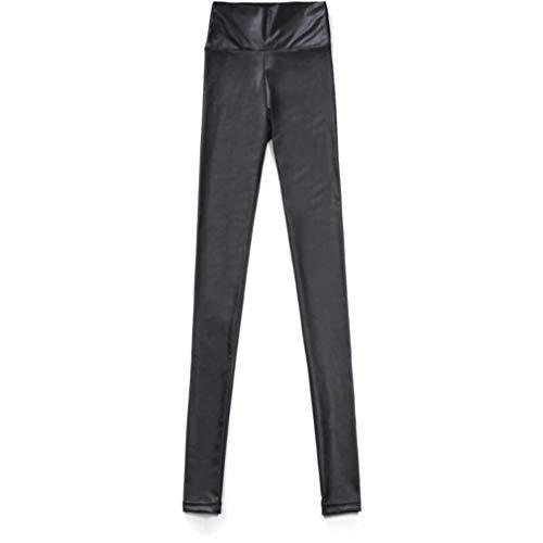 da Pantaloni MKILJNH a sottile Squisito similpelle Black vita Pantaloni a in donna zampa alta vXWHrX0Z