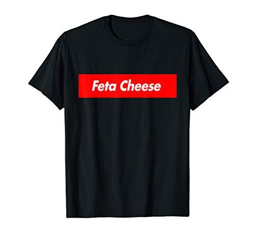 Feta Cheese Parody Box Logo Style Funny T-Shirt