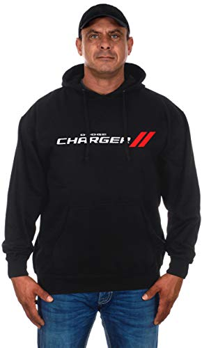 Men's Dodge Charger Hoodie a Black Pullover Hoodie (X-Large, - Dodge Sweatshirt