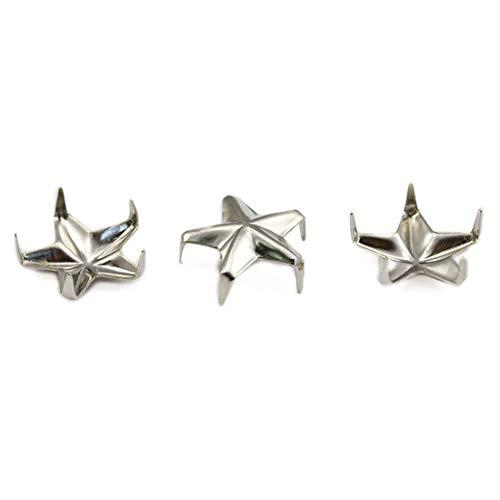 Allstarco 8mm Silver 3/8 Diamond BEDAZZLER Studs - 100 Pieces (Size 40, Star/Silver)