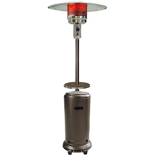 Hanover HAN001BR Portable Hammered Bronze 7-Ft. 41,000 BTU Steel Umbrella Propane Patio Heater, 7' Finish (Heater In Patio Porch Screened)