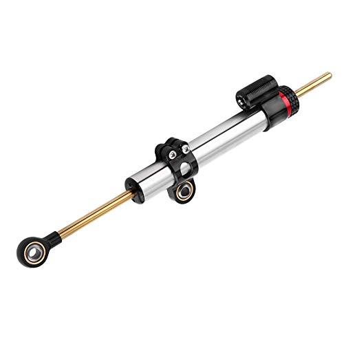 Krace Motorcycle Adjustable Universal Steering Damper Control Fit For Honda Yamaha Kawasaki Suzuki Aprilla BMW DUCATI Black/&Red