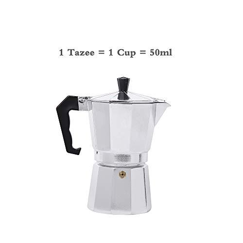 Stovetop Espresso Coffee Maker,Moka Pot, Espresso and Coffee Makerwith Safety Valve for Gas or Electric Ceramic Stovetop, Espresso Shot Maker for Italian Espresso, Cappuccino and Latte (1 - Safety Maker Cappuccino