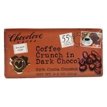 Chocolove Coffee Crunch in Dark Chocolate, 3.2 Ounce (Pack of 12) by Chocolove [Foods]