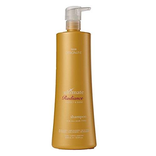 Ultimate Radiance Shampoo, 33.8 oz - Regis DESIGNLINE - Sulfate Free Formula Hydrates Hair & Fights Color Fade (Regis Designline Ultimate Radiance Leave In Conditioning Styler)