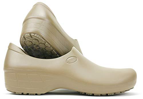 Waterproof Non-Slip Shoes (7, Beige) - Dark Beige Footwear