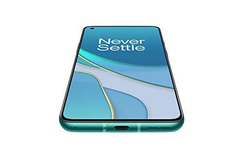 OnePlus 8T Aquamarine Green, 5G Unlocked Android Smartphone U.S. Version, 256GB Storage + 12GB RAM, 120Hz Fluid Display, Quad Camera
