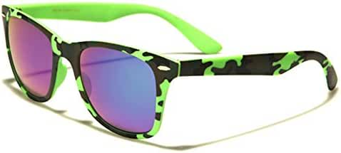 Retro Fashion Slim Sunglasses - Camouflage Frame Colors - Color Mirror Lens