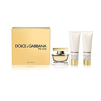 9844b69e Amazon.com : Dolce and Gabbana The One 3 Piece Gift Set for Women :  Fragrance Sets : Beauty