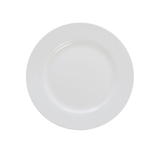 ITI BL-7 Bristol Porcelain 7-Inch Fine Porcelain Plate, Bright White, 36-Piece