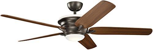 Kichler Lighting 300025OZ Pino-60 Ceiling Fan with Light Kit, Walnut/Cherry Blade Finish, Olde Bronze ()