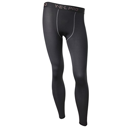 EFINNY Mens Compression Base Layer Pants Tight Long Leggings Under Skin Sports Gear Sport Long Tights