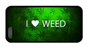 I Love Weed Iphone 6 plus 6 plus Rubber Shell with Black Edges Cover Case by Lilyshouse