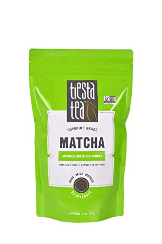 Tiesta Tea Matcha, Japanese Green Tea Powder, 12 Ounce Pouch (170 Servings) High Caffeine, Non-GMO
