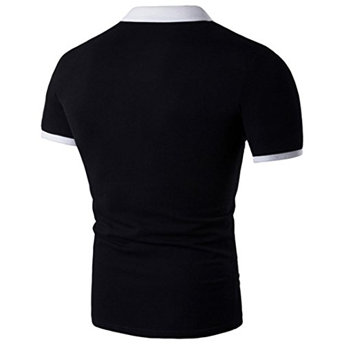 iLXHD Men's Summer Casual Printed Short Sleeve T-Shirt Muscle Blouse Top Tee(XL,Black) by iLXHD (Image #1)