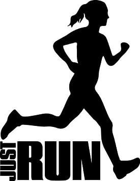 Wonder4life Runner calcomanía de corredor de Just Run Running Girl Jogger Fitness Calcomanías DIY coche casco silueta coche deportivo etiqueta accesorios coche pegatinas coche coche coche pegatinas