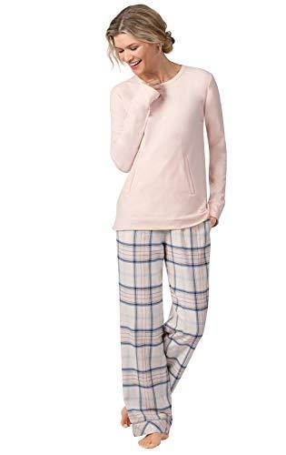- Addison Meadow Flannel Pajamas for Women - Soft PJs Women, Pink Plaid, XS, 2-4
