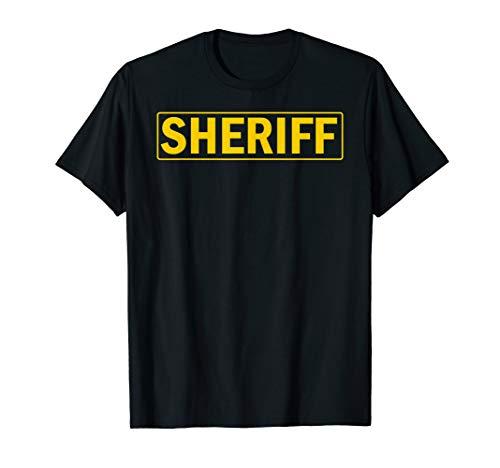 Sheriff Deputy Shirt Official Halloween Costume -