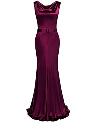 JUESE Women's 1950's Bridesmaids Maxi Long Evening Prom Floor-length Dress