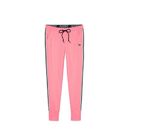 Victoria's Secret PINK Skinny Collegiate Sweat Pants X-Small Pink Black (Victoria Sweatpants)