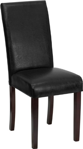 Flash Furniture Black Leather Parsons Chair