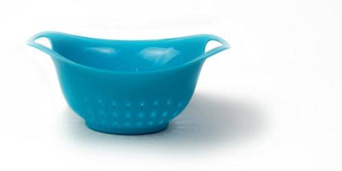Architec Prep Colander, 1 Qt, Blue, Dishwasher Safe BPA-free Plastic, Patented Non-slip Gripper Feet ()