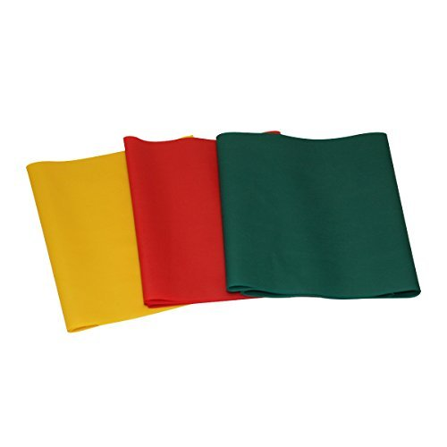 CanDo 10-5680 Latex-Free Exercise Band Pep Pack, Easy, Yellow/Red/Green