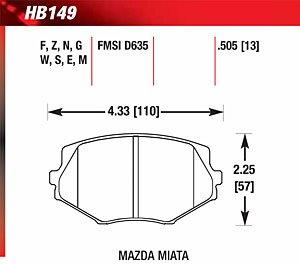 Hawk HB149E.505 Blue 9012 Disk Brake Pads