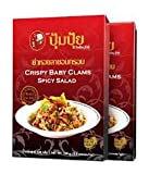 smiling fish - Smiling Fish [Pumpui Brand] Crispy Baby Calms Spicy Salad Best Seller of Thailand Net Weight 100g. [3.5 Oz.] Pack of 2
