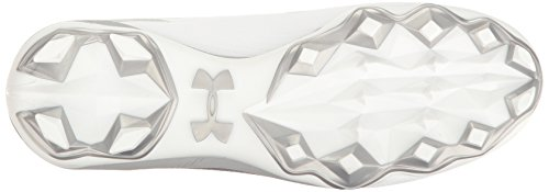 Men's White Hammer Armour MC Metallic Cleats Silver Under Football FqZ5w