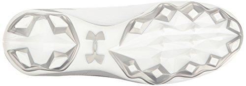 Men's White Hammer Armour MC Metallic Cleats Silver Under Football FqZ5w