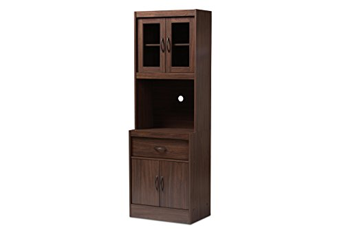 Baxton Studio 1474248318AMZ Kitchen Cabinet Walnut Brown