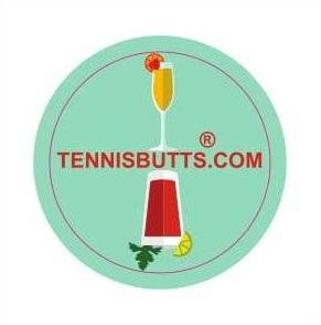 Tennis Butts - Fun Racket Decal That Starts Your Match Off with a Laugh! Perfect Tennis Gift (Mimosa or Bloody Mary)