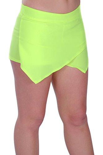 Pantalon Aux Eyecatch Jaune Femmes Mini Mode Dames Short Non Jupe 0qqdOU