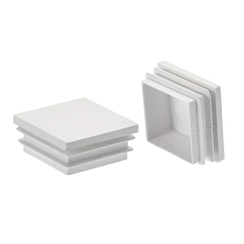End Handrail Caps - uxcell 20Pcs 40mmx40mm(1.6inch) Plastic Tubing Plug Square Post End Caps for Handrail Stair Newel Guardrail Tube White