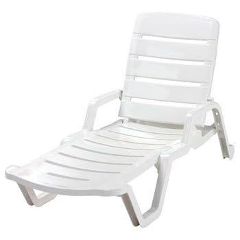 Awe Inspiring Adams Chaise Lounge 65 Lx 27 Wx 36 75 H White Machost Co Dining Chair Design Ideas Machostcouk