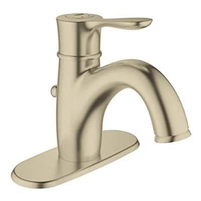 Grohe 23 306 Parkfield Single Hole Bathroom Faucet with SilkMove and QuickFix Te,