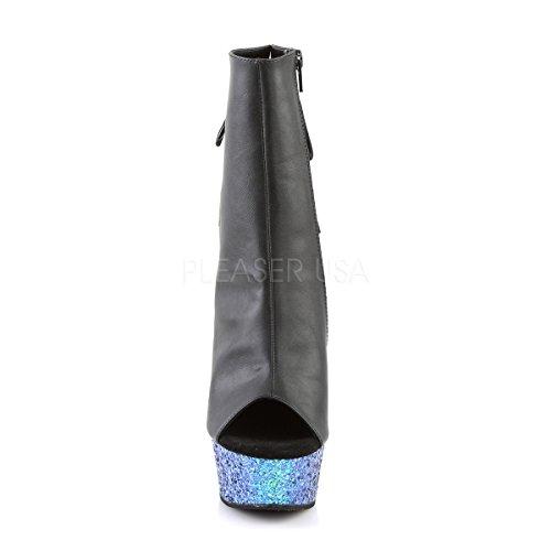 Blk Blue Pleaser DELIGHT BLG BPU Multi Glitter Pu 1018LG Boots Womens wR7qUY