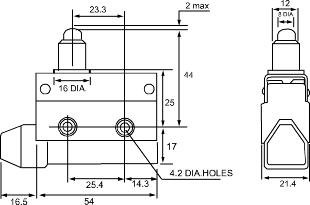 SUNS International SN7166 Wobble Stick Mini Enclosed Limit Switch by SUNS International (Image #1)