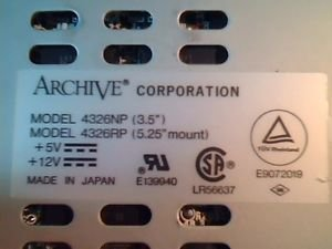 Archive - 4/8GB DAT TAPE DRIVE - 4326RP by Archive