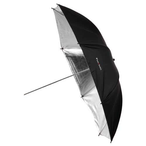 "Fotodiox Premium Grade Studio Umbrella -- 43"" Black & Silver Reflective with Fine Grain Silver Interior"