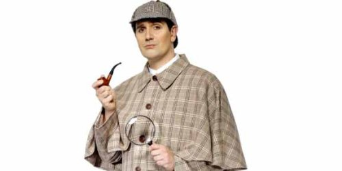 Sherlock Holmes Fancy Dress Costumes (Sherlock Holmes Kit Costume Accessory Set)