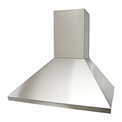 KOBE Range Hoods CHX8130SQB-DC46-1 3-Speed 750 CFM Brillia Wall Mount Range Hood Fits Ceiling Heights Of 10-1/2-11-1/2'